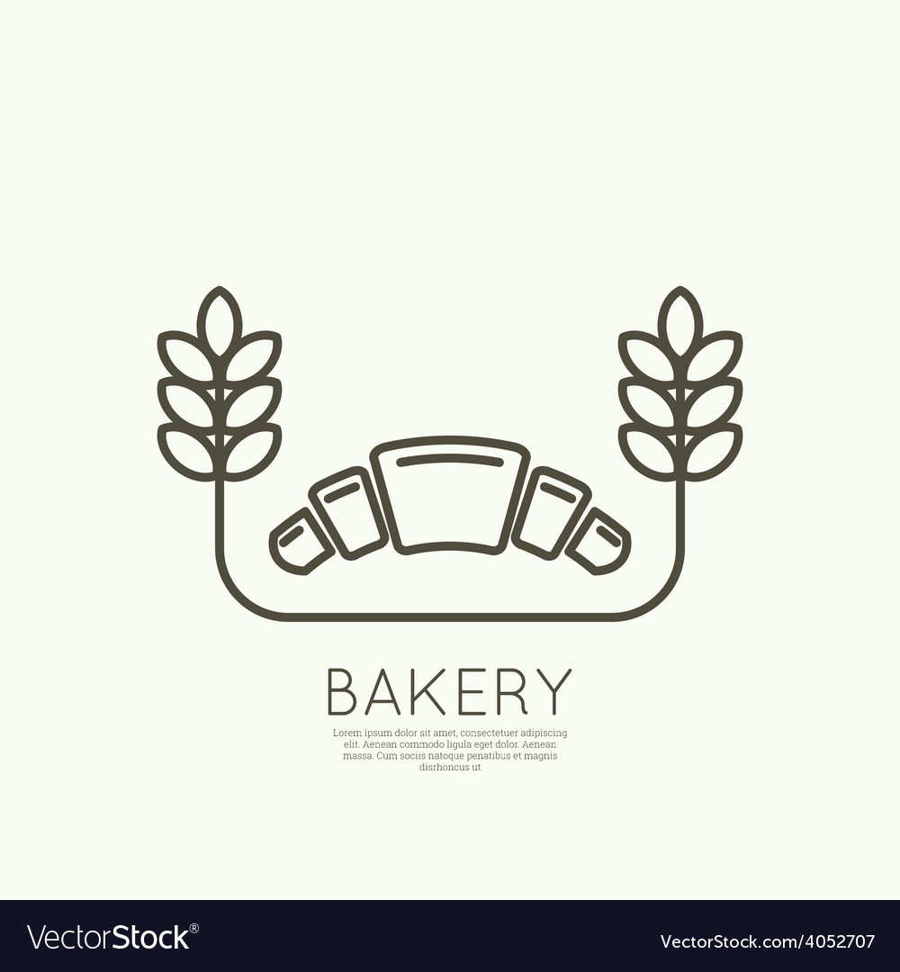 Croissant and wheat ears vector   Price: 1 Credit (USD $1)