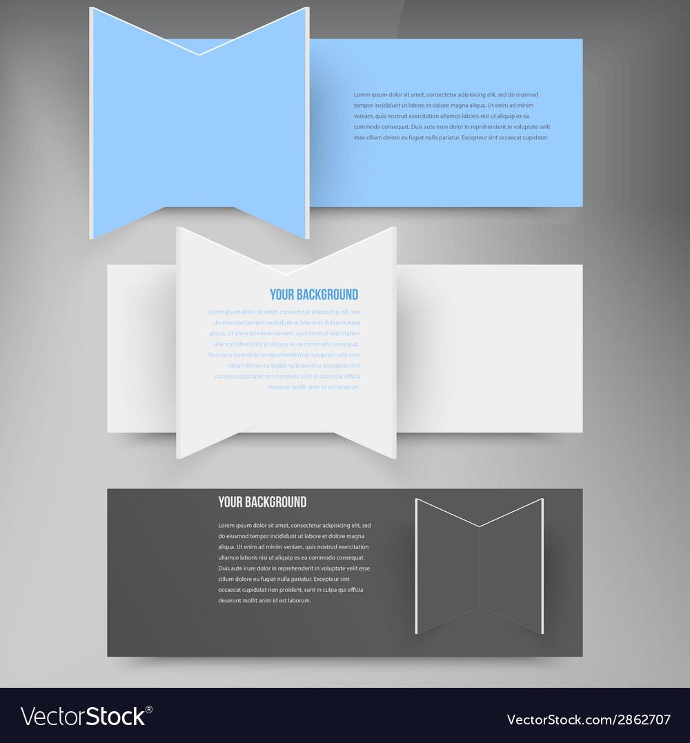 Design element 3d set banners vector | Price: 1 Credit (USD $1)