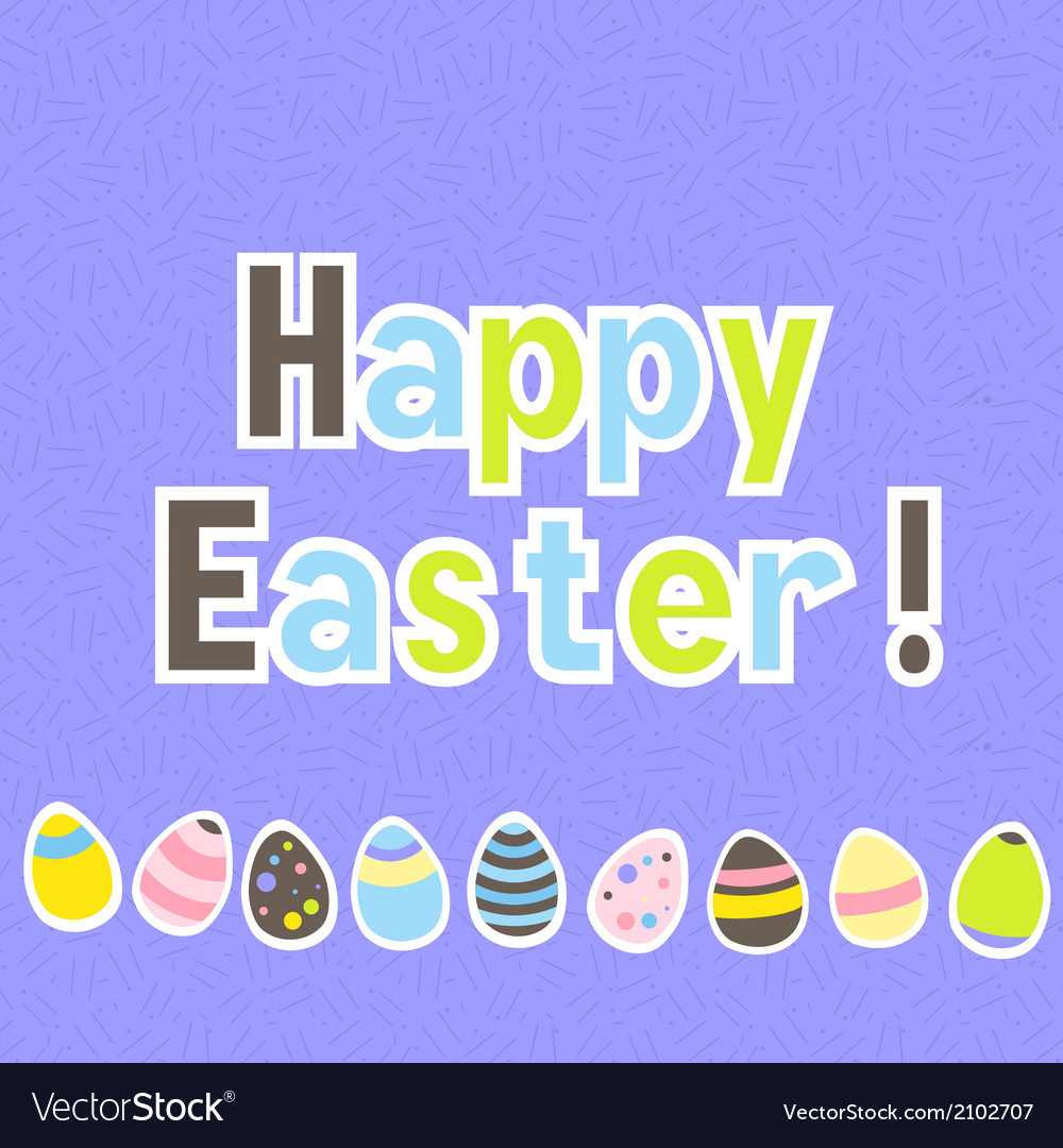Easter colorful purple greeting card vector   Price: 1 Credit (USD $1)