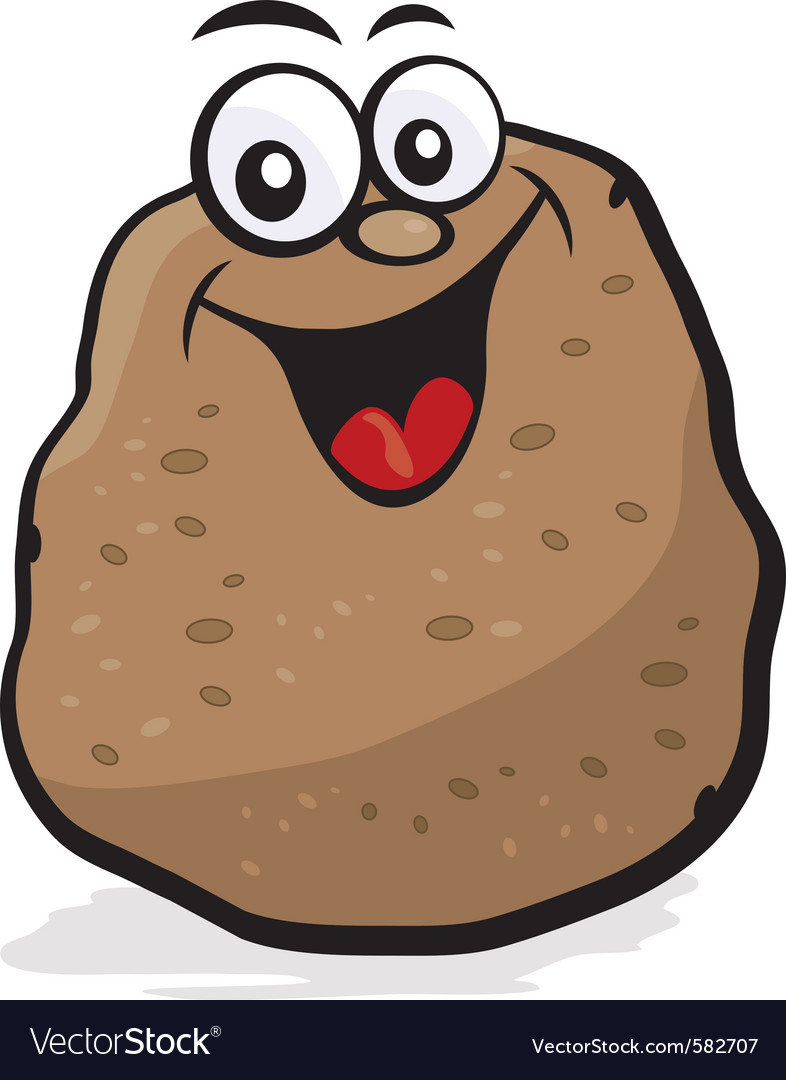 Happy potato character vector | Price: 1 Credit (USD $1)