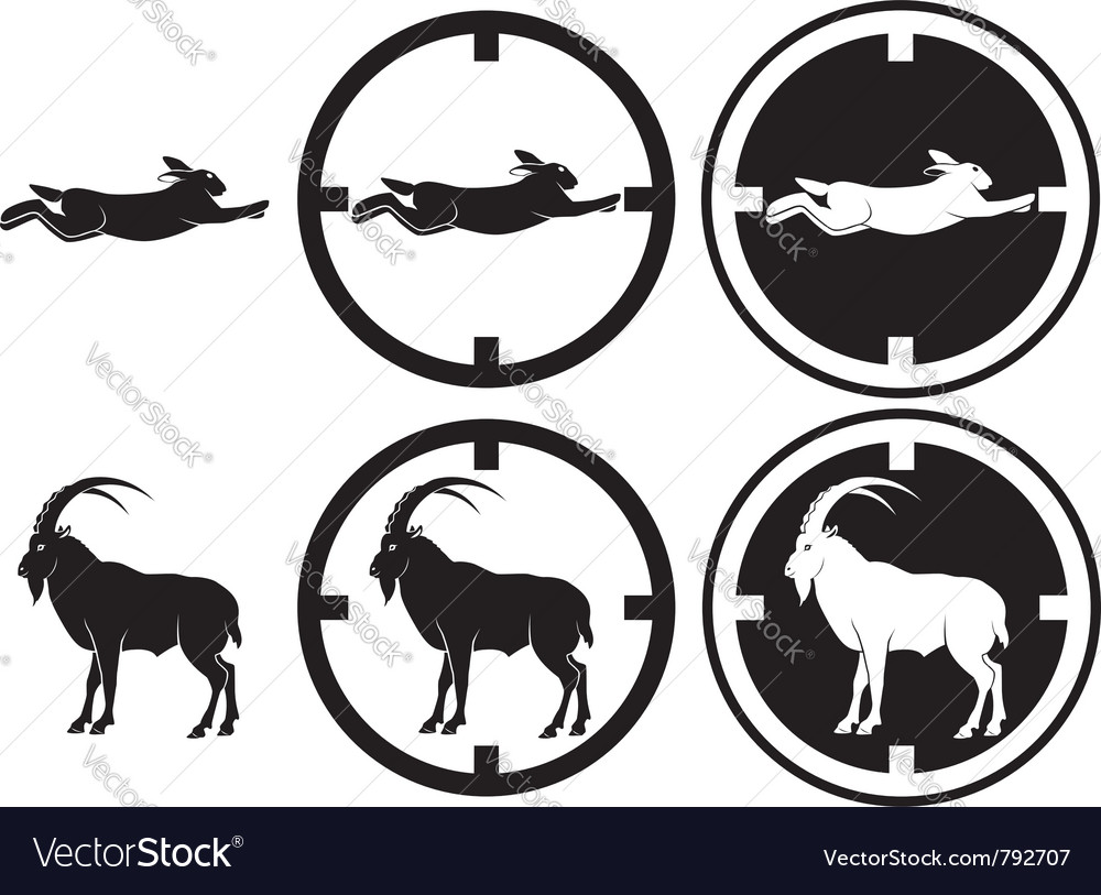 Hare and goat vector | Price: 1 Credit (USD $1)