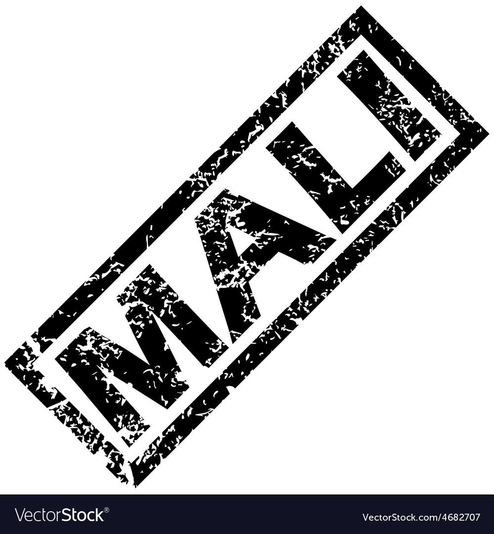 Mali rubber stamp vector | Price: 1 Credit (USD $1)