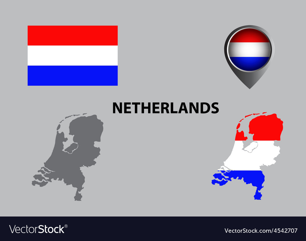 Map of netherlands and symbol vector | Price: 1 Credit (USD $1)