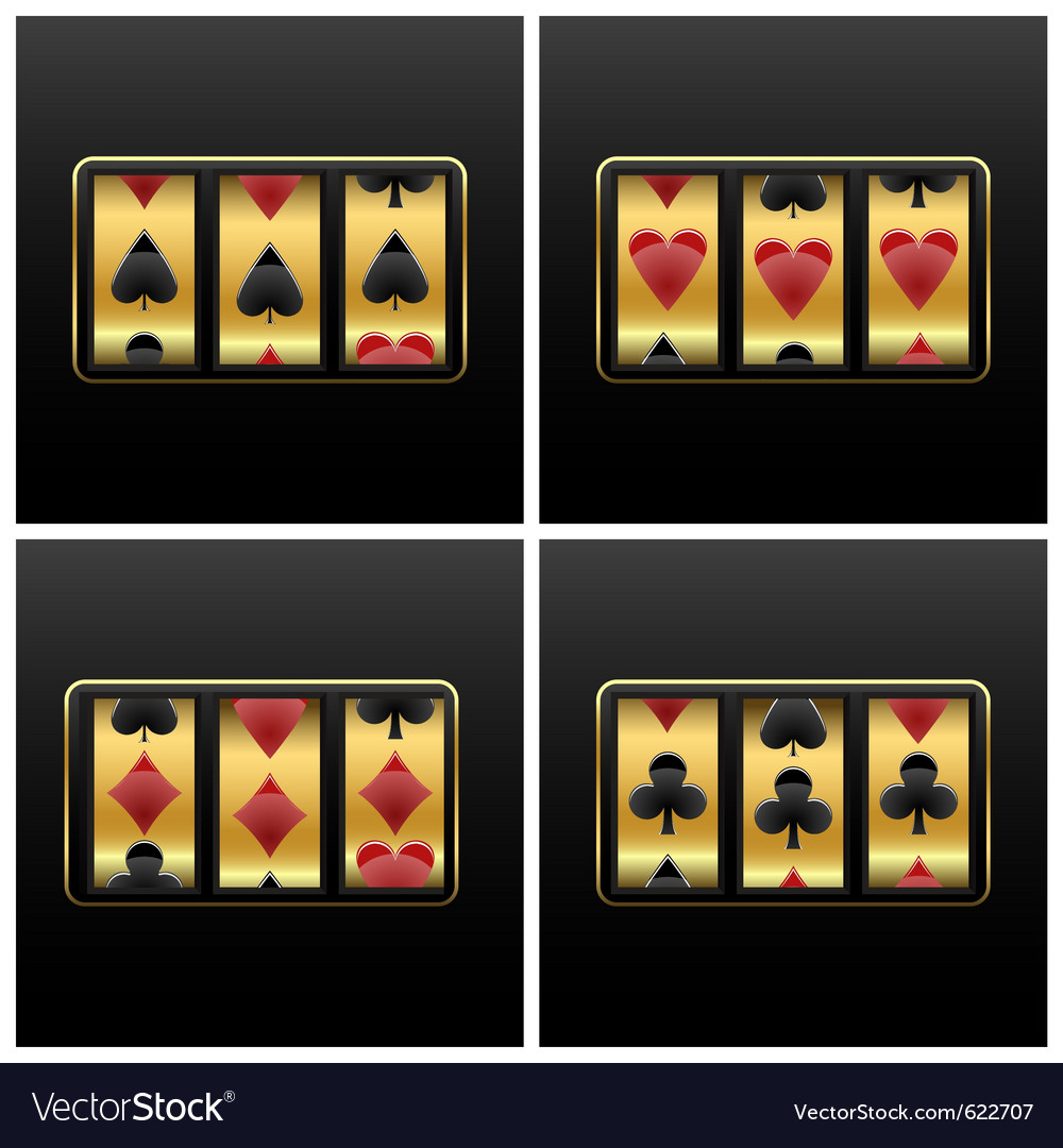 Playing cards slot machine vector | Price: 1 Credit (USD $1)