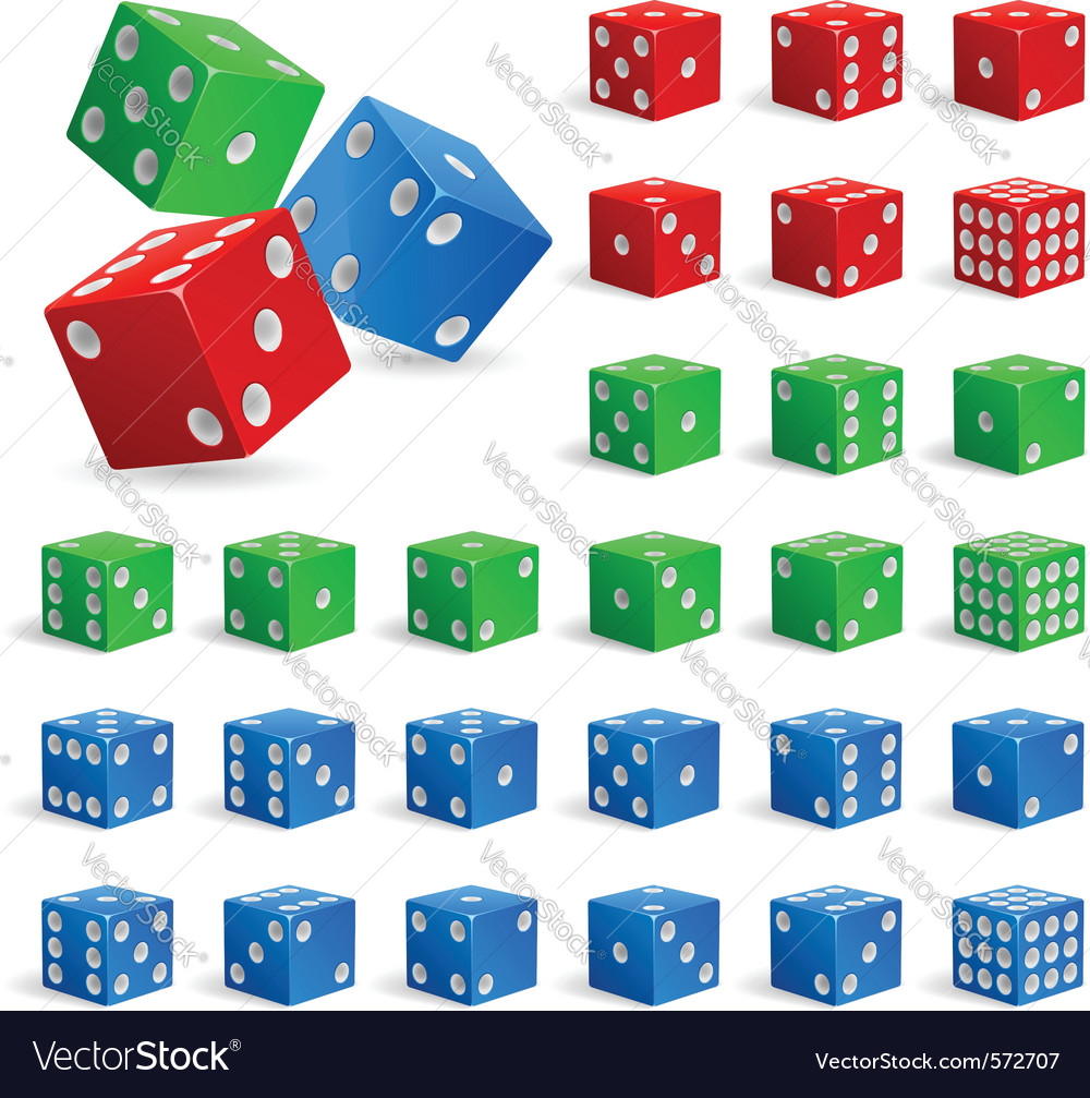Set of dice vector | Price: 1 Credit (USD $1)
