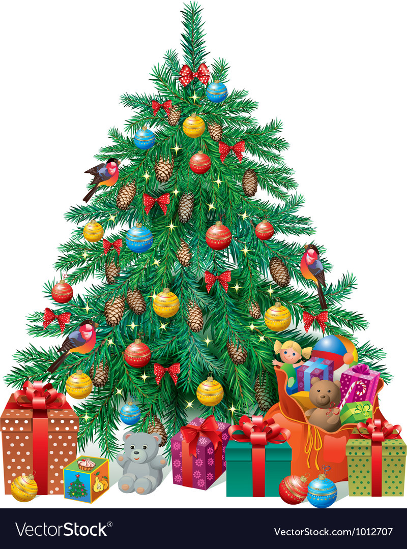 Spruced christmas tree vector | Price: 3 Credit (USD $3)