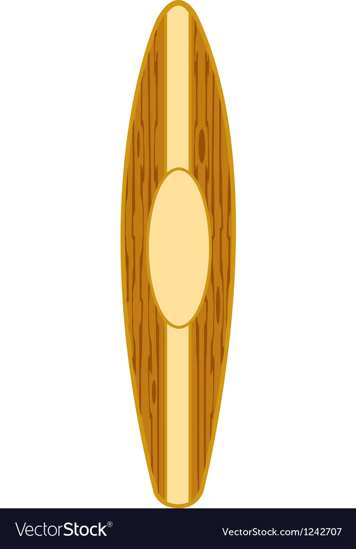 Surfboard vertical vector | Price: 1 Credit (USD $1)