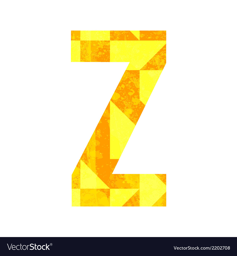 Abstract color alphabet z vector | Price: 1 Credit (USD $1)