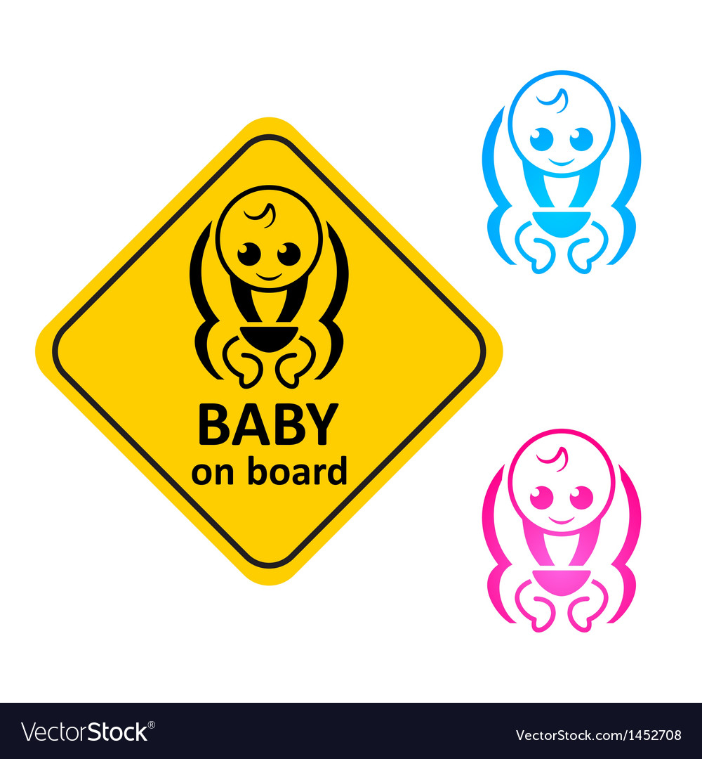 Baby on board vector | Price: 1 Credit (USD $1)