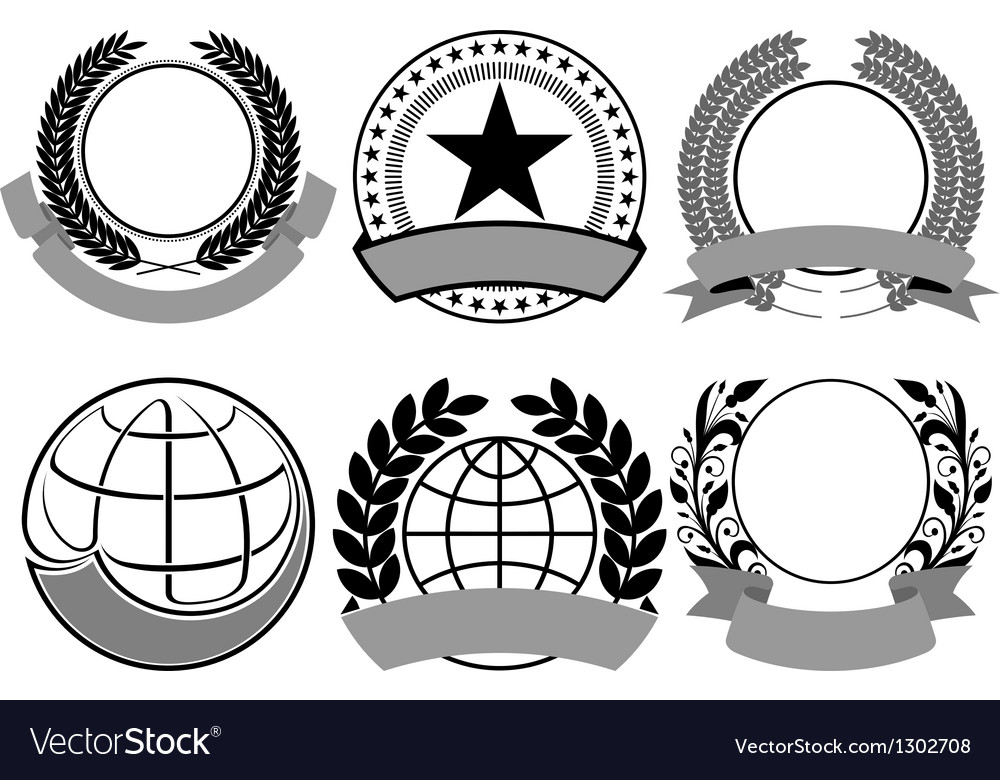Black blazon set vector | Price: 1 Credit (USD $1)
