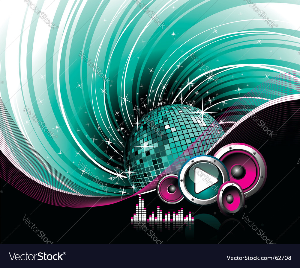 Dj dance floor vector