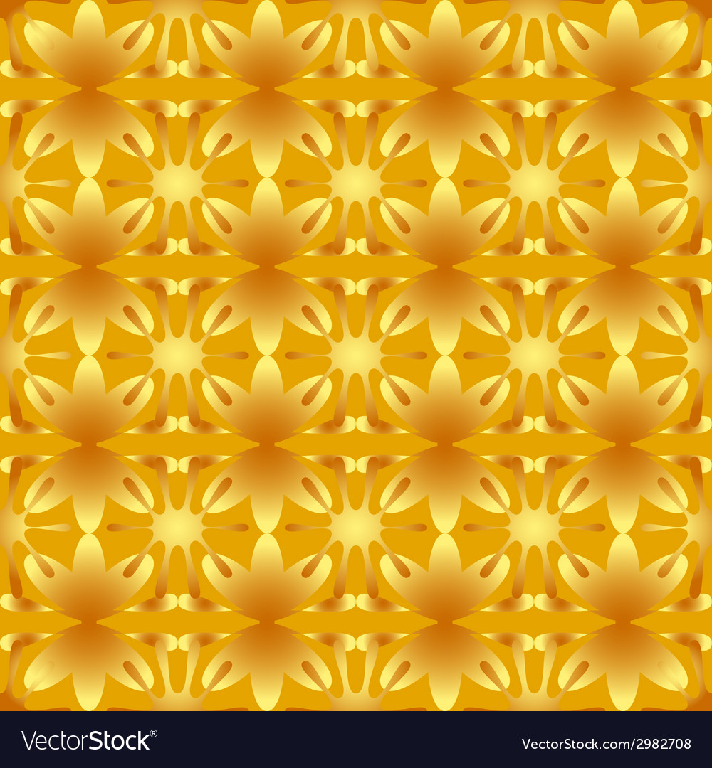Floral pattern seamless background gold vector | Price: 1 Credit (USD $1)