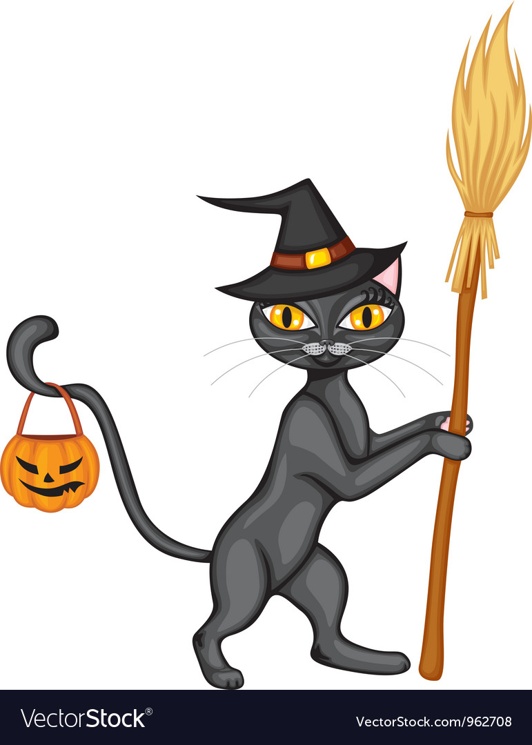 Halloween kitty2 vector | Price: 1 Credit (USD $1)