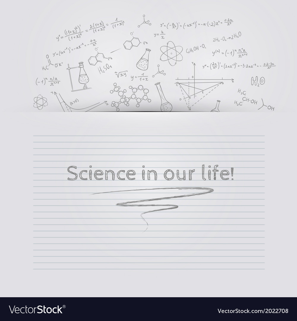 Hand draw chemistry background vector | Price: 1 Credit (USD $1)