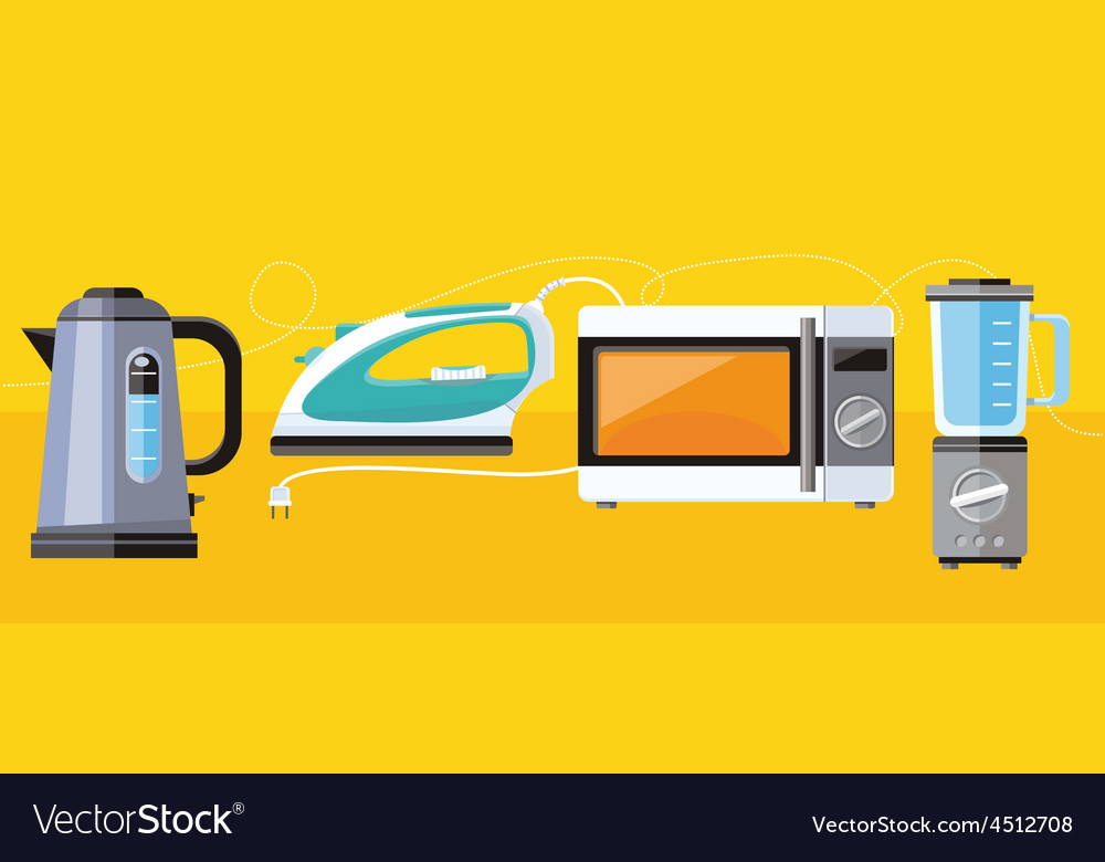 Household appliance for home vector | Price: 1 Credit (USD $1)