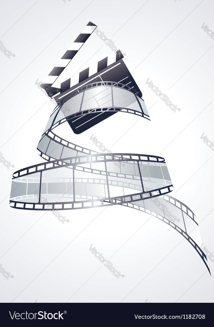 Realistic 3d film reel vector | Price: 1 Credit (USD $1)
