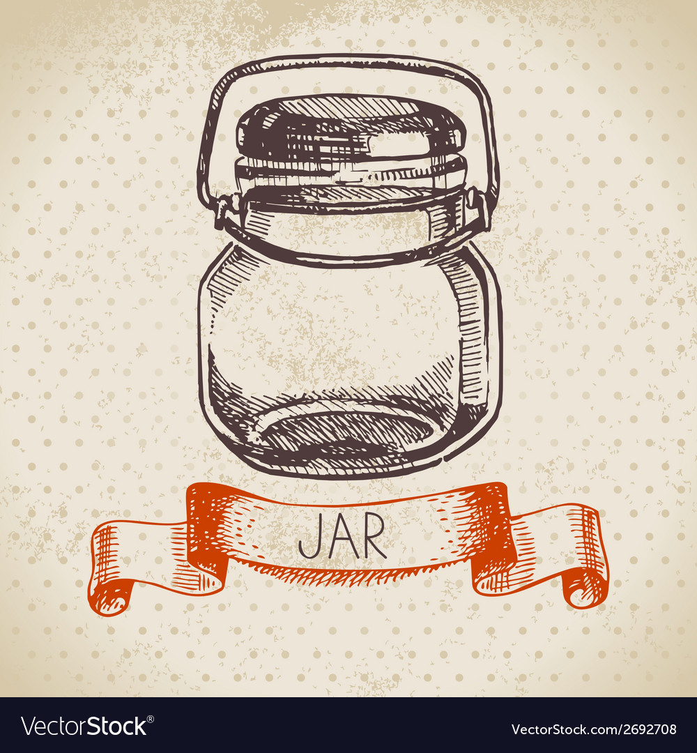 Rustic mason and canning jar vector | Price: 1 Credit (USD $1)