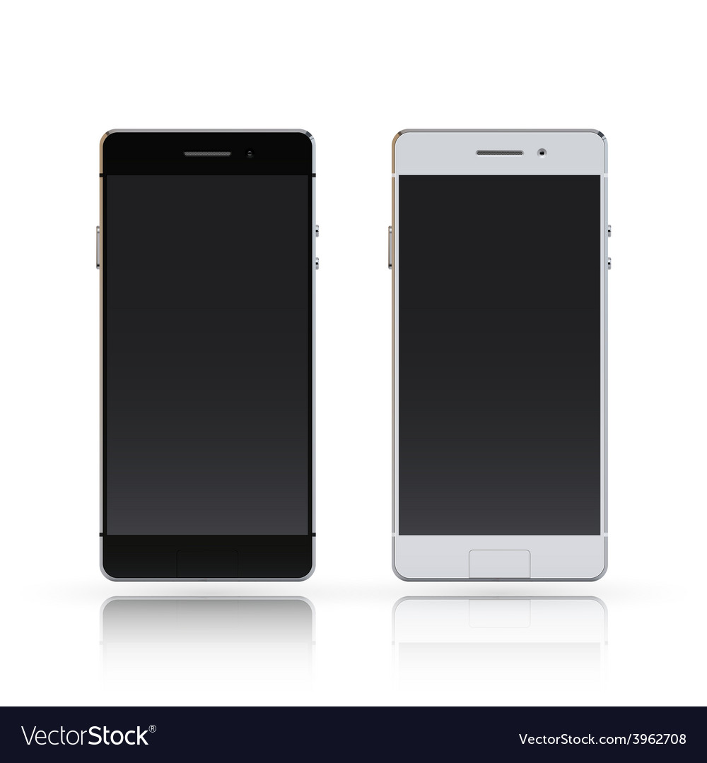 Smartphone black and white vector | Price: 1 Credit (USD $1)