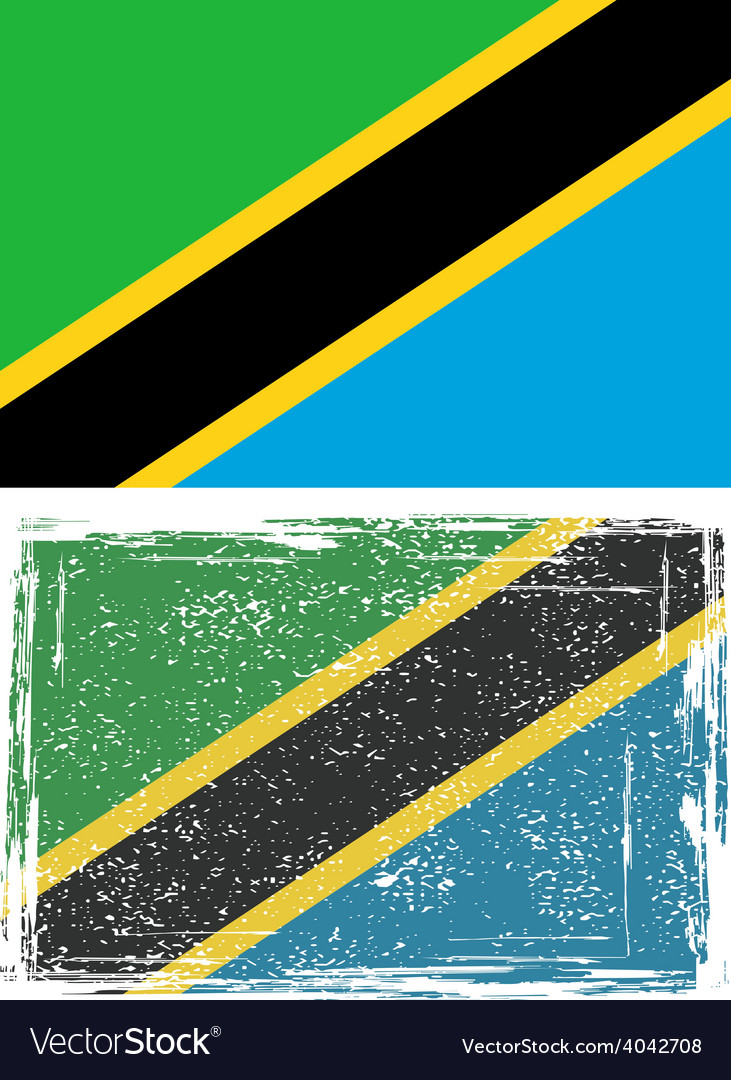 Tanzania grunge flag vector | Price: 1 Credit (USD $1)