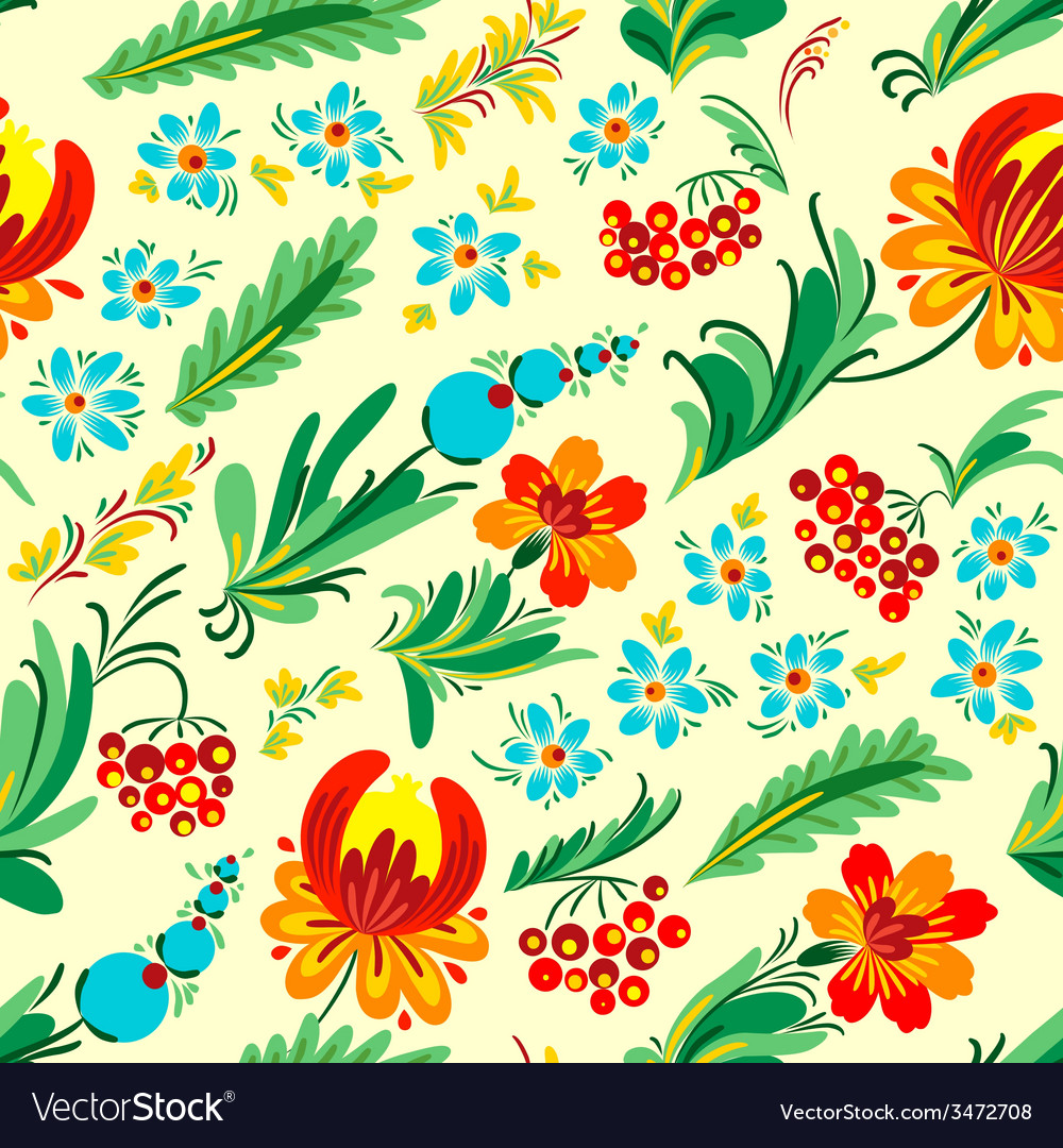 Ukrainian floral seamless vector   Price: 1 Credit (USD $1)