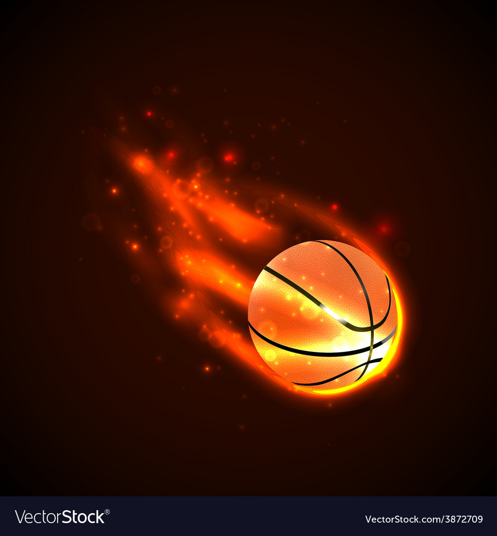 Basketball on fire vector | Price: 1 Credit (USD $1)
