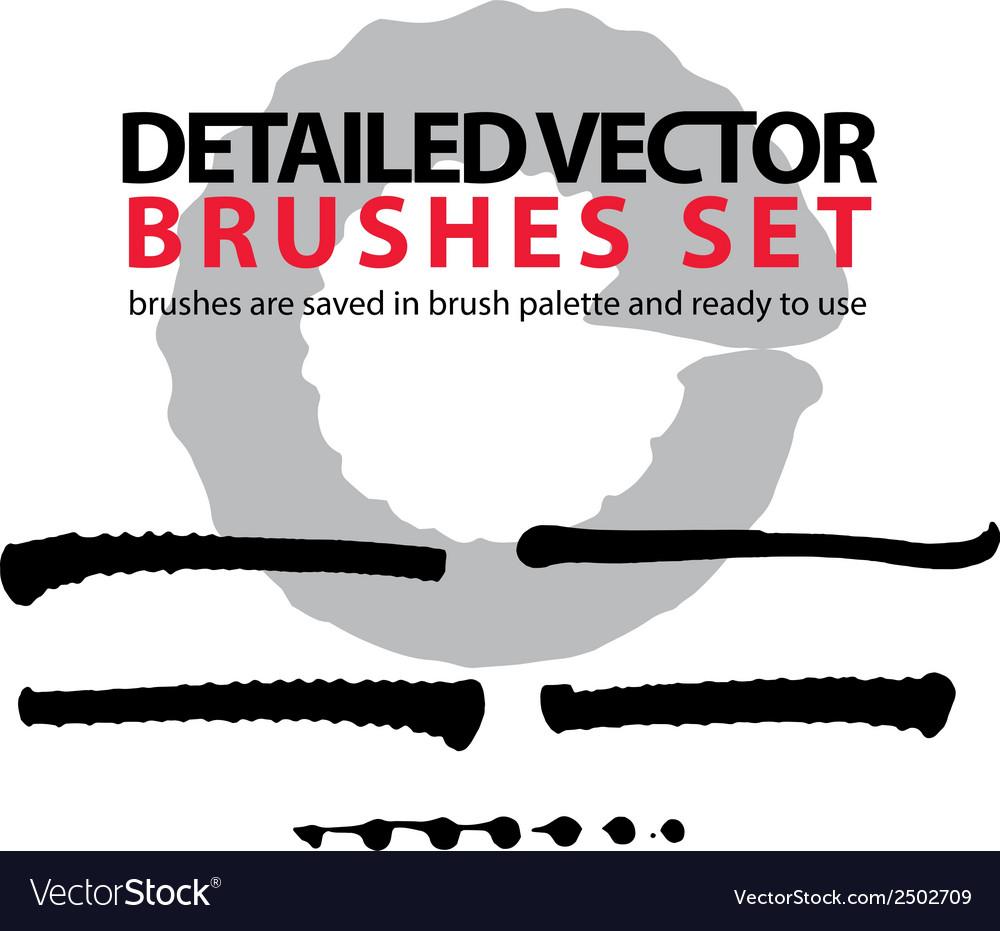 Brush strokes palette set of black tattered vector | Price: 1 Credit (USD $1)