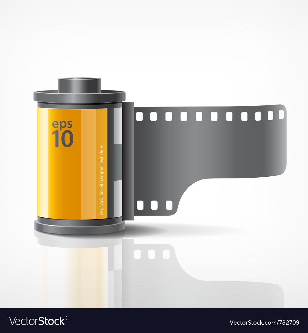 Camera film roll vector | Price: 3 Credit (USD $3)