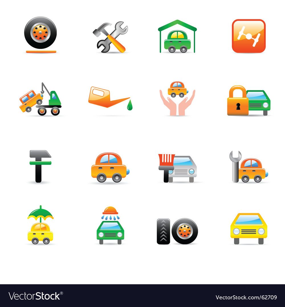 Car service icons vector | Price: 1 Credit (USD $1)