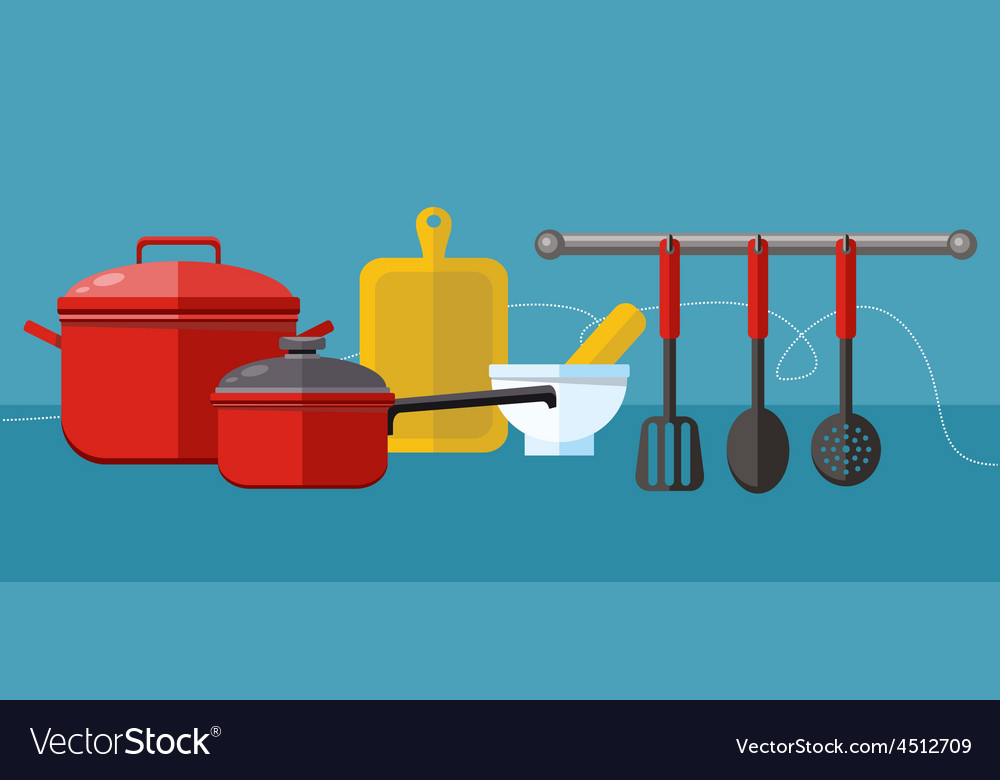 Cooking serve meals food preparation elements vector | Price: 1 Credit (USD $1)