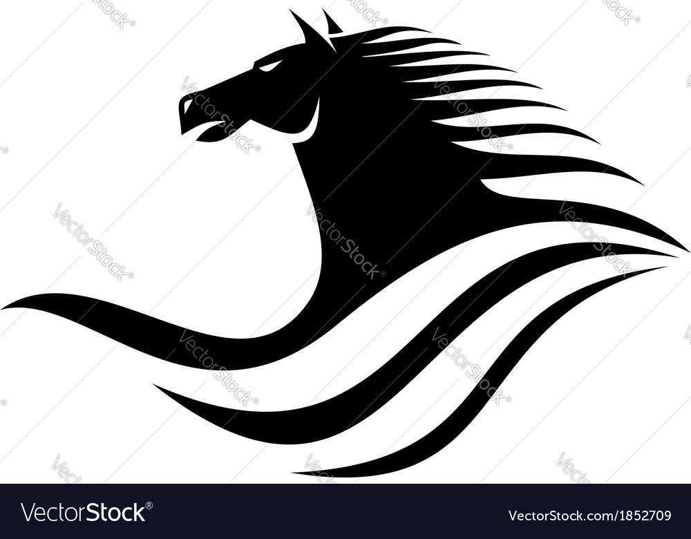 Dynamic horse head icon vector | Price: 1 Credit (USD $1)