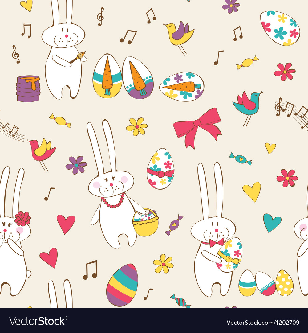Easter seamless vector   Price: 1 Credit (USD $1)