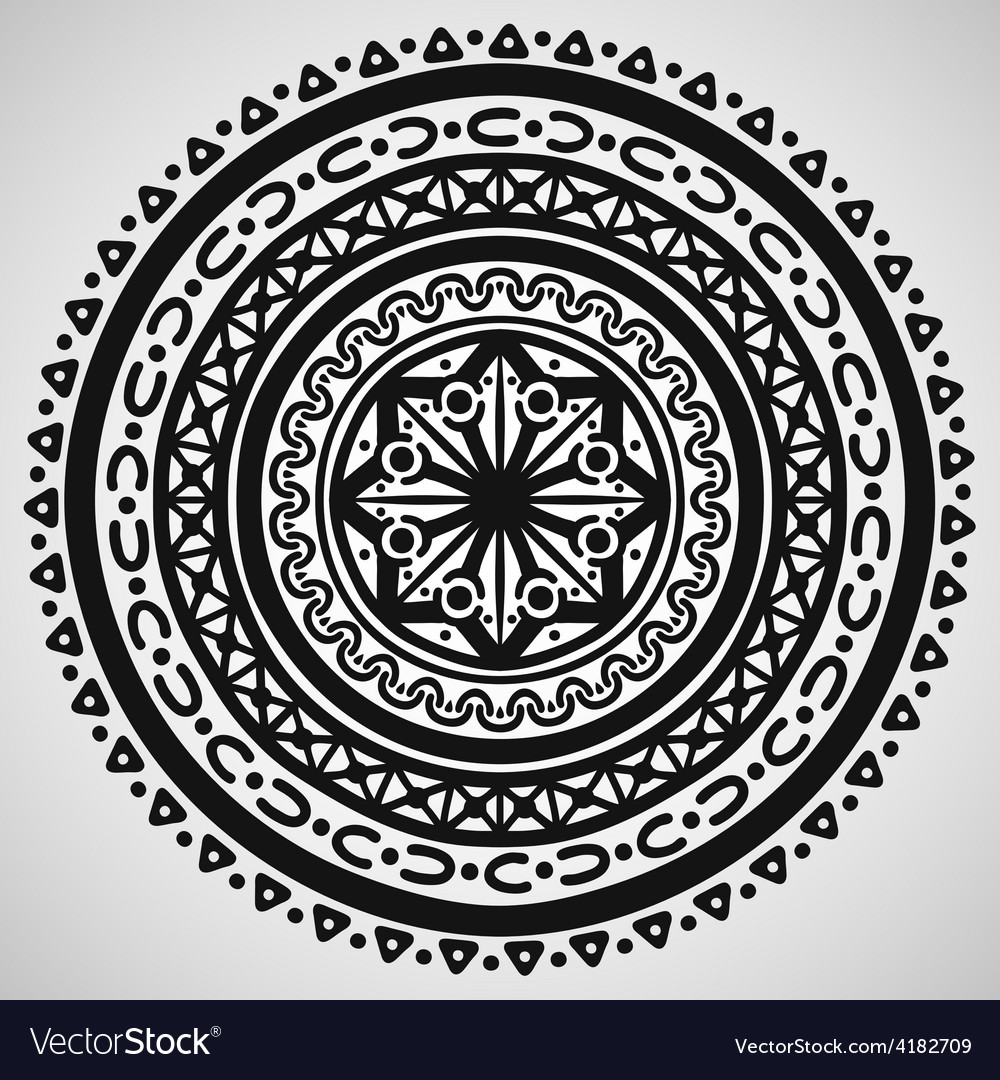 Ethnic ornament on white background vector | Price: 1 Credit (USD $1)