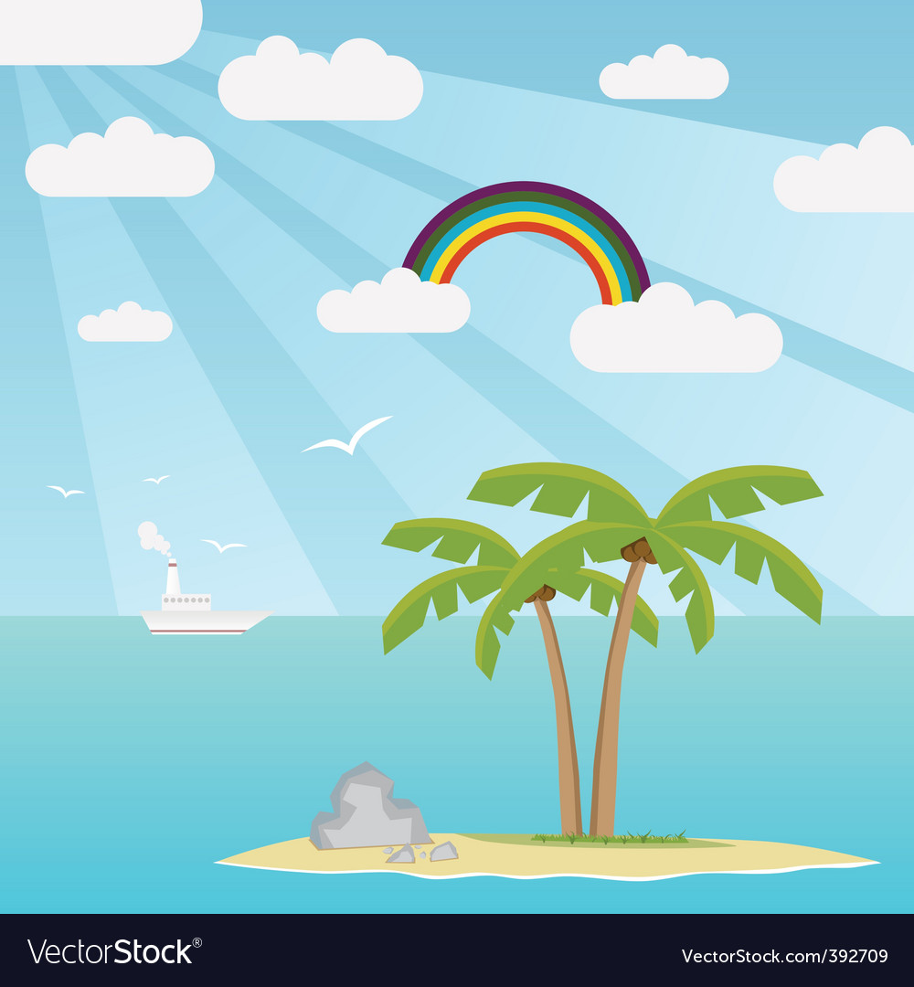 Lost island vector | Price: 1 Credit (USD $1)