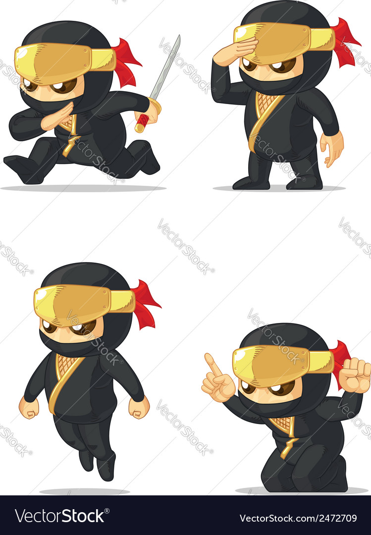 Ninja customizable mascot vector | Price: 1 Credit (USD $1)