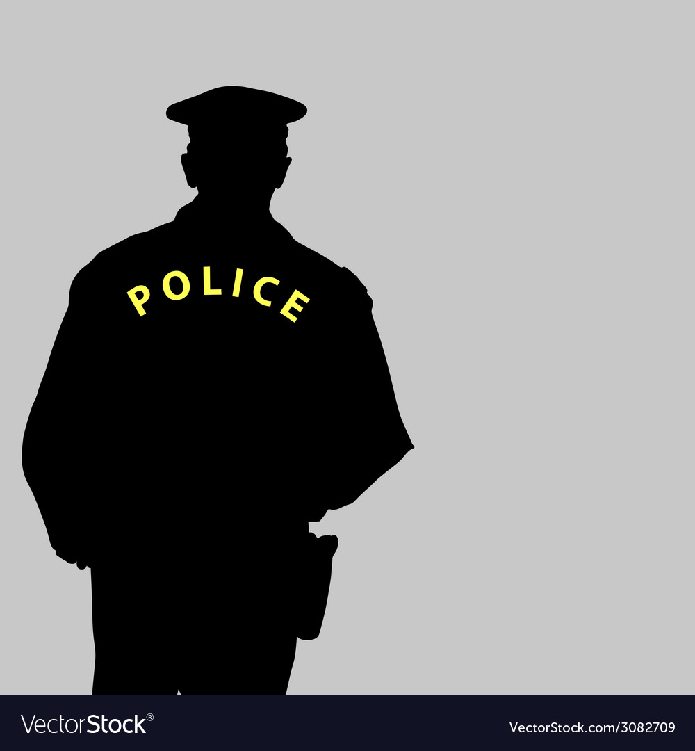 Policeman silhouette vector | Price: 1 Credit (USD $1)