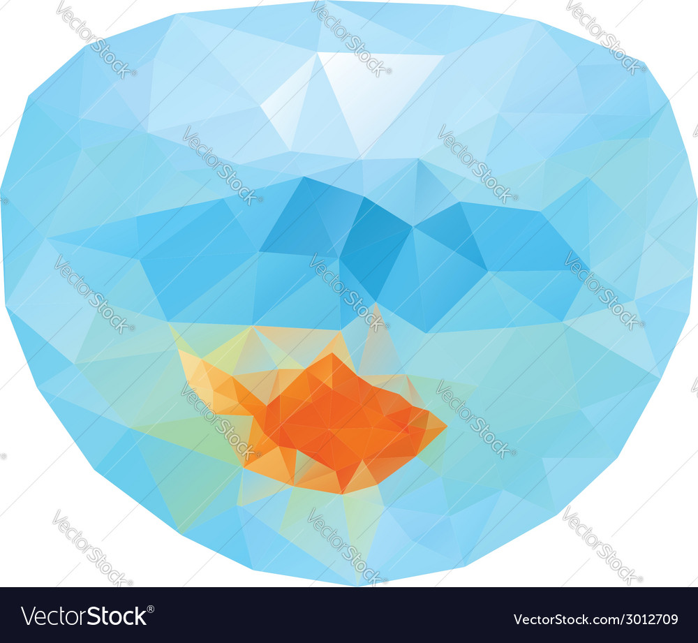 Polygonal gold fish2 vector | Price: 1 Credit (USD $1)
