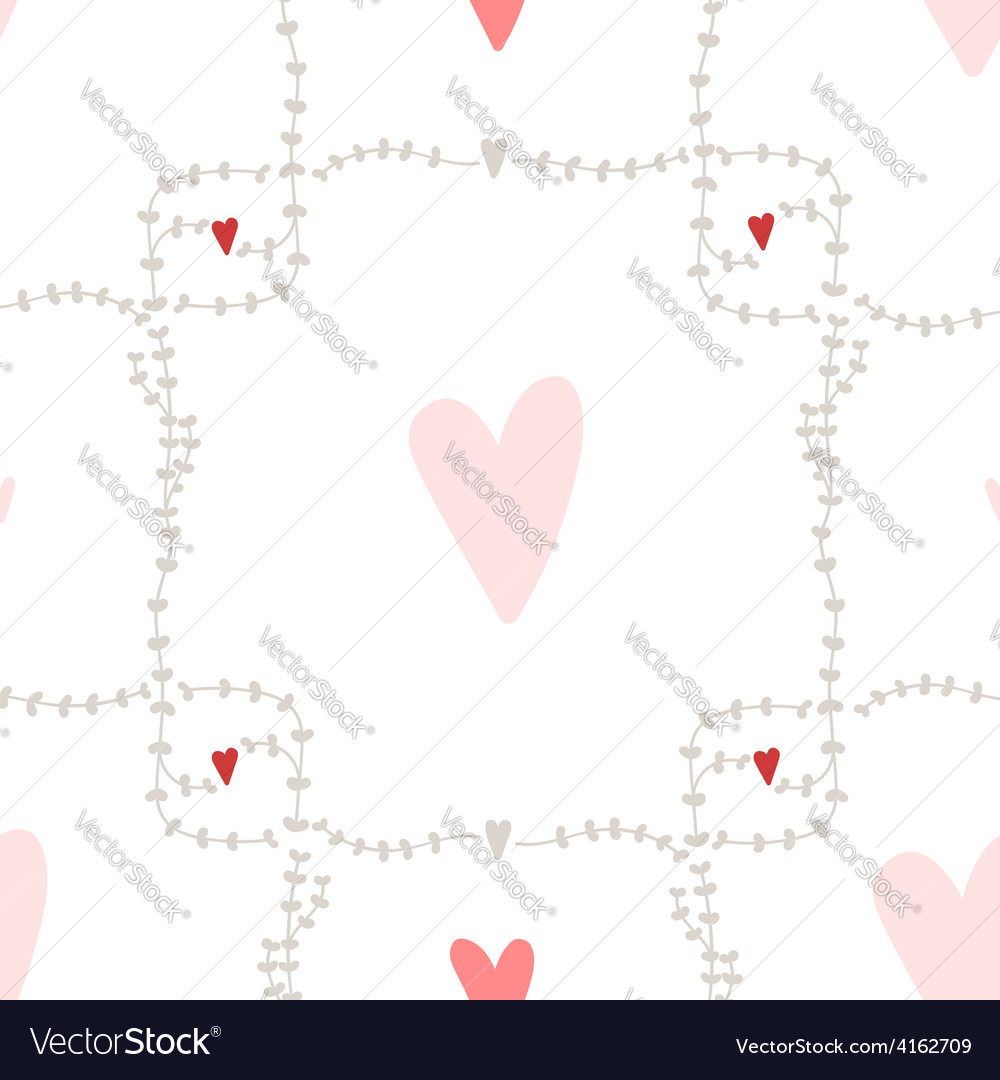 Seamless pattern with square wreath elements vector | Price: 1 Credit (USD $1)