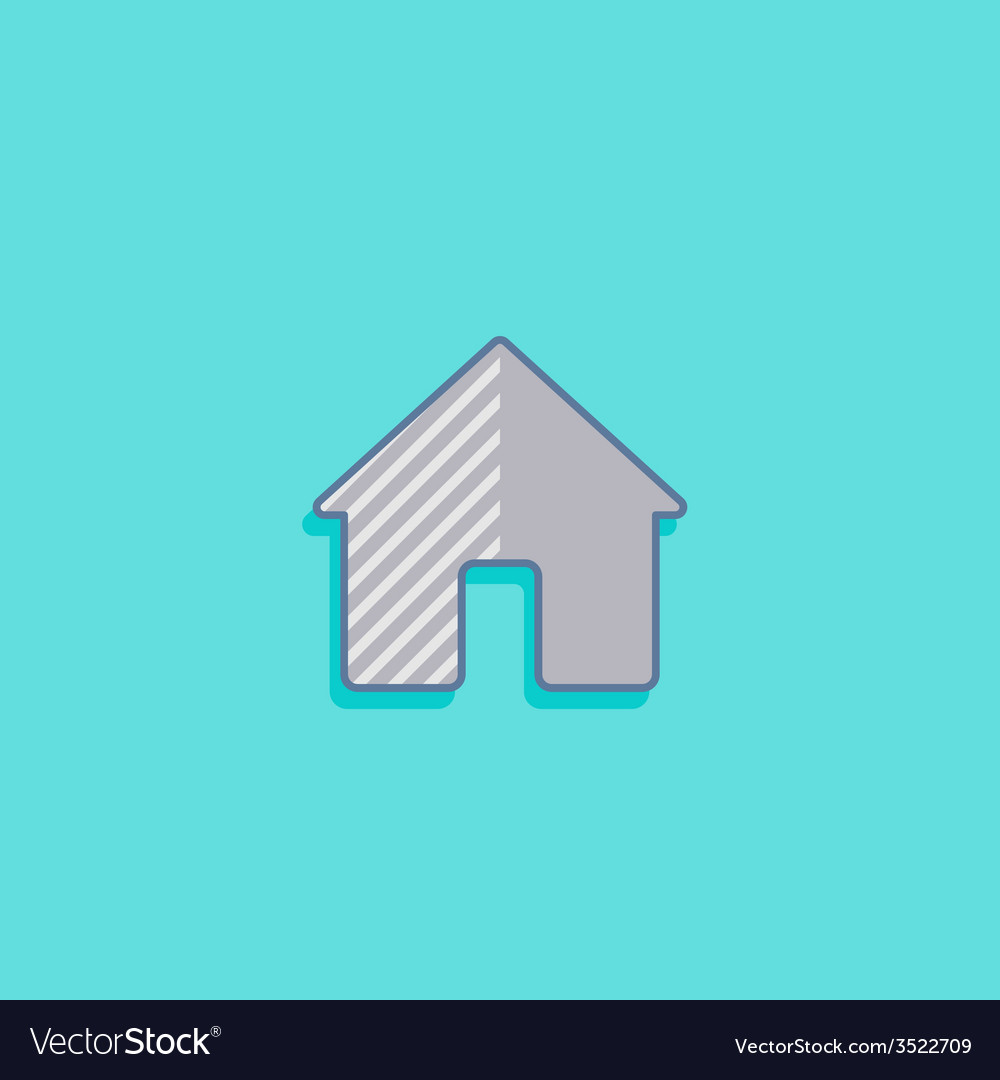 Simple with a house home icon flat design vector | Price: 1 Credit (USD $1)