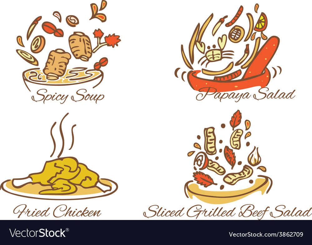 Thai foods vector | Price: 1 Credit (USD $1)