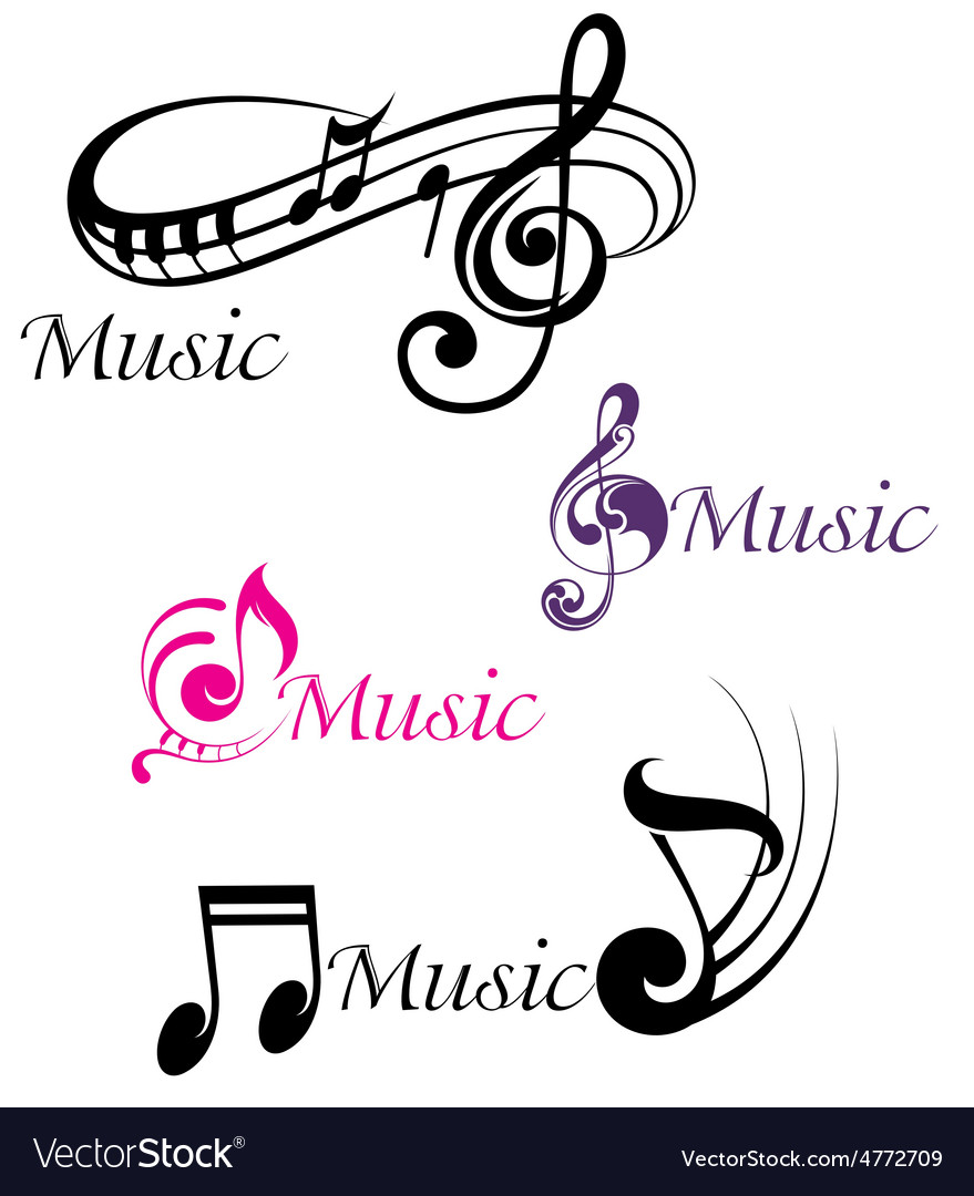 Various musical notes vector | Price: 1 Credit (USD $1)