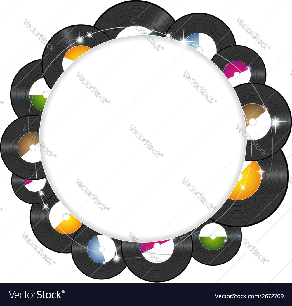 Vinyl music background vector | Price: 1 Credit (USD $1)