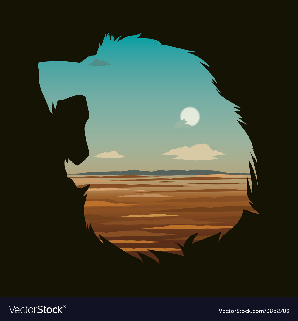 With lion head vector | Price: 3 Credit (USD $3)