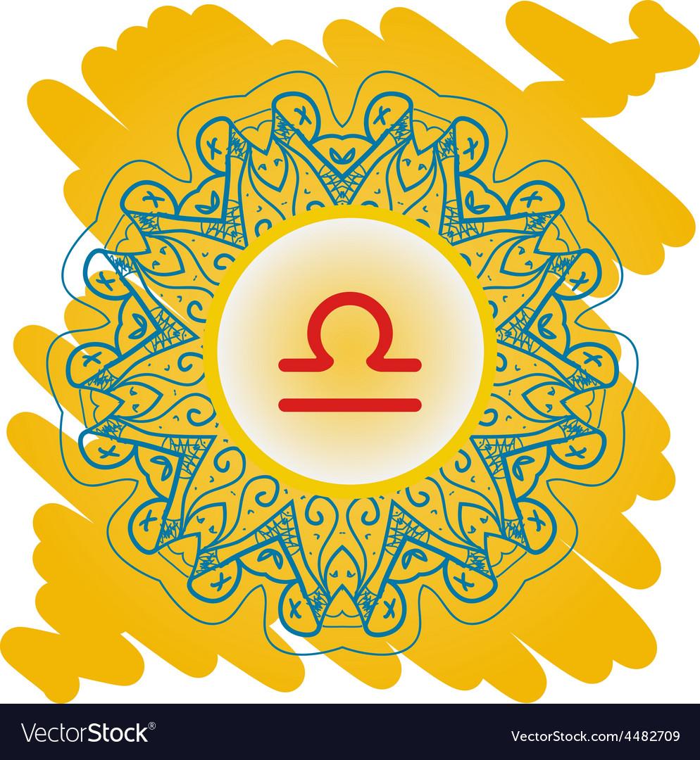 Zodiac sign the scales libra vector | Price: 1 Credit (USD $1)