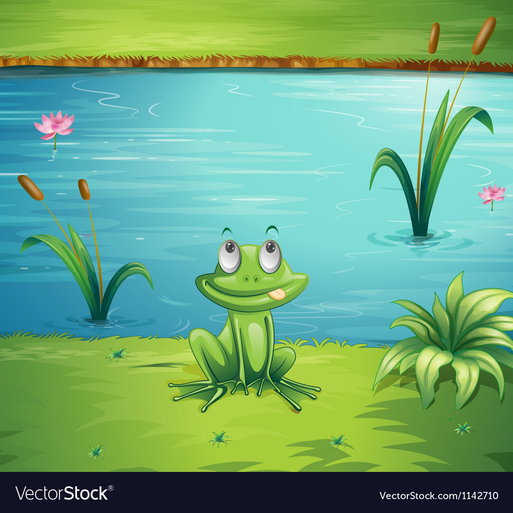 A hungry frog vector | Price: 1 Credit (USD $1)