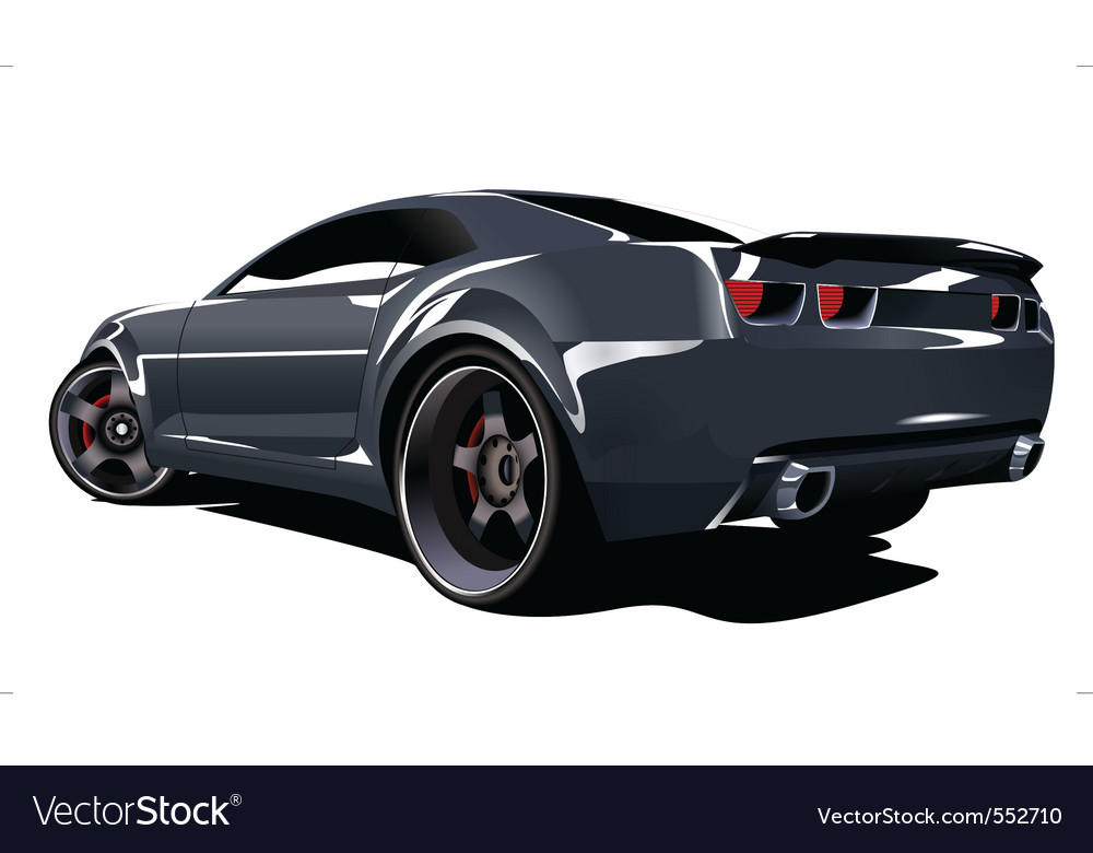 American muscle car vector | Price: 3 Credit (USD $3)