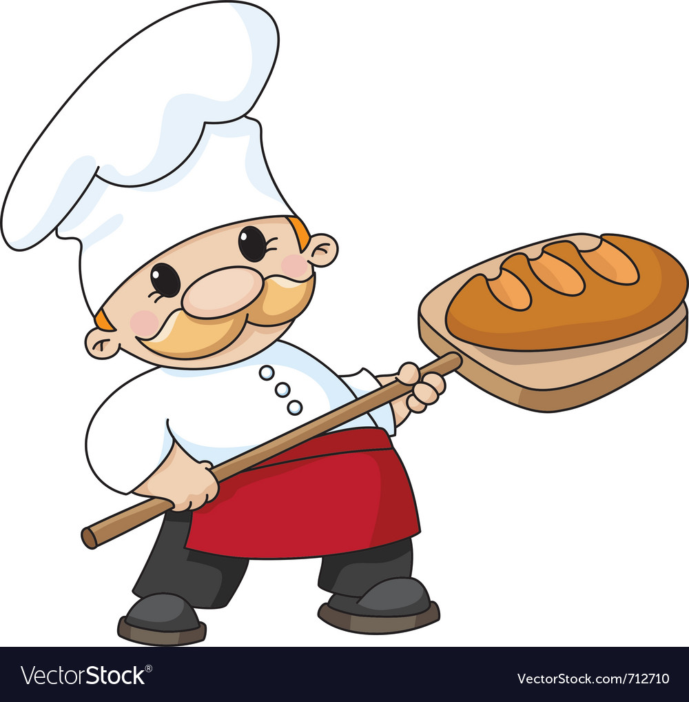 Baker with bread vector | Price: 1 Credit (USD $1)