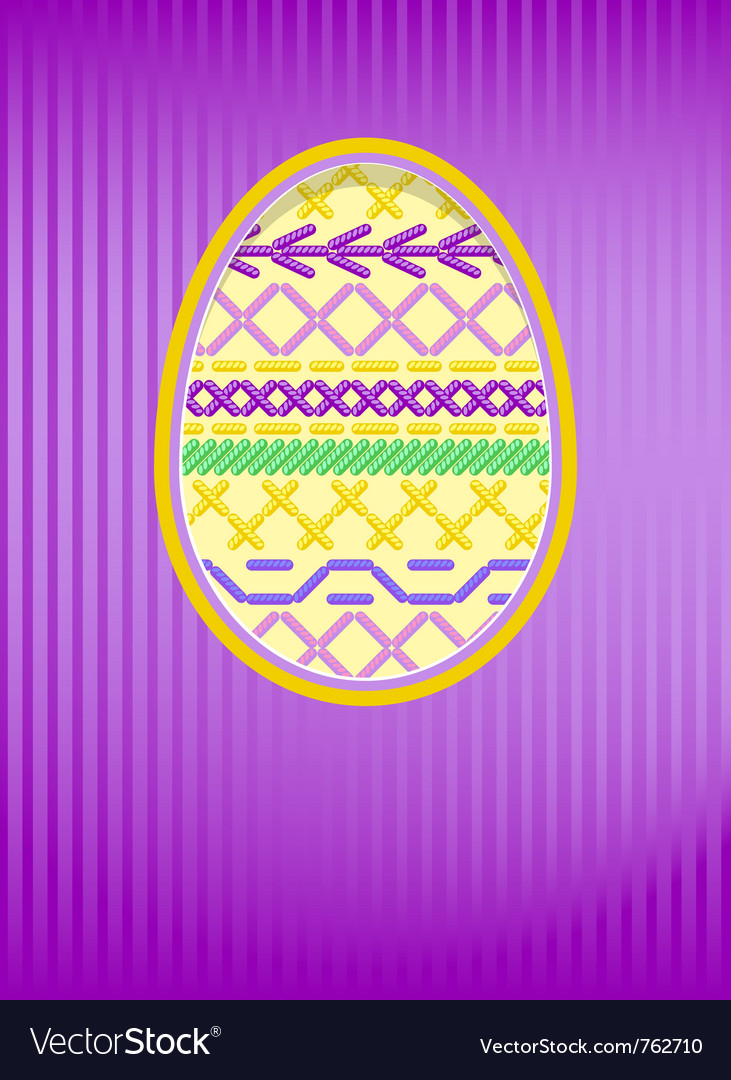 Easter card embroidery vector   Price: 1 Credit (USD $1)