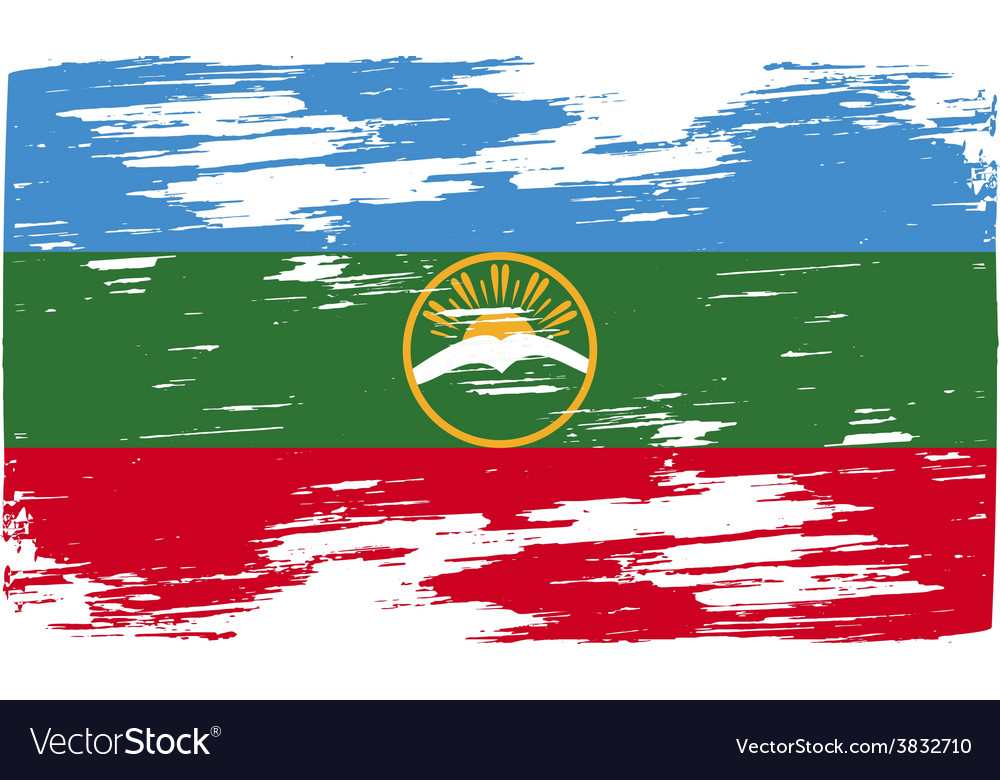 Flag of karachay-cherkessia republic russia with vector | Price: 1 Credit (USD $1)