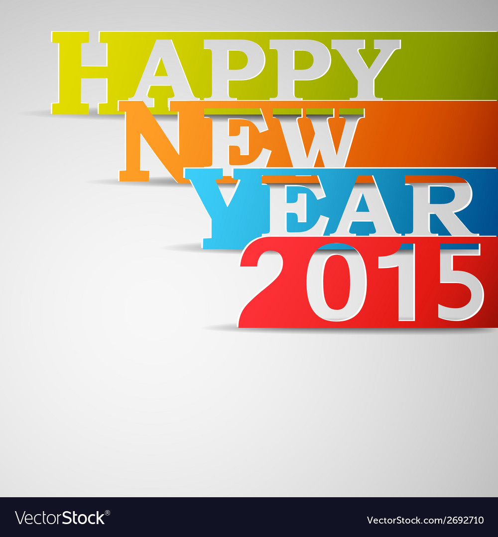 Happy new year 2015 paper strips vector | Price: 1 Credit (USD $1)