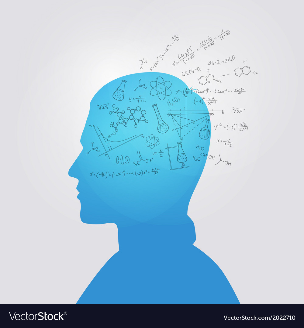 Mans head with education doodle vector | Price: 1 Credit (USD $1)